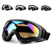 Wholesale Snow Sports Eyewear UV400 Ski Goggles Motorcycle Cycling Goggles Windproof CS Tactical Protective Safety Designer Glasses with Strap