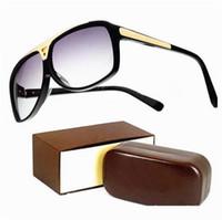 Wholesale laser glass lens - New High Quality Brand Evidence Sun glasses men Fashion Designer laser logo Sunglasses For Womens Glasses Eyewear with Original packing