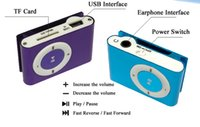 Wholesale Mini Clip MP3 Player Hot Cheap Colorful Sport mp3 Players Come with Earphone USB Cable Retail Box Support Micro SD TF Cards
