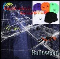 decoração do dia das crianças venda por atacado-2018 Decoração Do Partido de Halloween Web Teia de Aranha Falsa Bar Assombrado Casa Hallowmas teia de Aranha Saints 'Day produtos fornecer as crianças presentes
