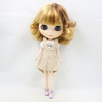 Wholesale normal doll resale online - blyth doll Brown short hair normal body BL0736 factory blyth nude fashion doll