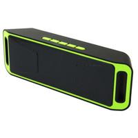china mp3 nuevo al por mayor-NUEVO Altavoz Portátil Inalámbrico Bluetooth USB FM Estéreo Mini Super Bass Reproductor de MP3 con Caja Al Por Menor