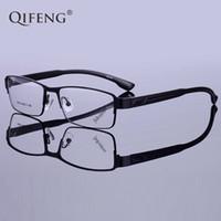 9c963499171ce QIFENG óculos de armação de óculos homens computador óptico prescrição  miopia lente clara olho óculos de armação para óculos masculinos QF156