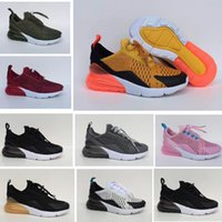 Wholesale infant shoes gold - Children Tiger 270 kids Running shoes Dusty Cactus Black White pink gold girls and boys sports shoes infant 27c Medium Olive Grey