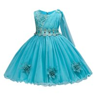 Wholesale baby show clothing online - BAOHULU Dress Tutu Kids Birthday Princess Party Show for Girls Infant Lace Flowers Bridesmaid Elegant Dress Baby Girls Clothes