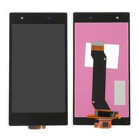 reemplazo de pantalla xperia al por mayor-Para Sony Xperia Z1s C6916 L39T Pantalla LCD Pantalla táctil Digitalizador de vidrio Conjunto de piezas de reparación de repuesto Negro