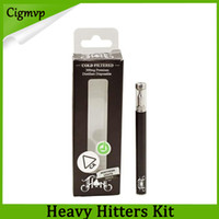 kits de adesivos venda por atacado-Heavy Hitter Kit Descartável 280 mAh Bateria Cartucho de Óleo De Espessura 0.3 ml Tanque De Bobina de Cerâmica Vape Caneta E Cigarro Kits 14 Sabor Adesivos