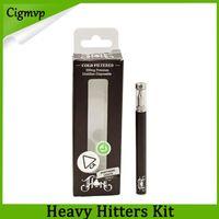 ingrosso aprire gli adesivi della batteria-Heavy Hitters Kit usa e getta 280mAh Batteria 0.3ml Cartuccia di olio spessa Cartuccia di ceramica Serbatoio Vape Penna E Kit di sigarette 14 Sapore adesivi