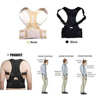 Wholesale Posture Therapy Brace - Posture Corrector Magnet Therapy Back Support Brace Adjustable Lumbar Belt Men Women Body Support Corrector BC002BKXL