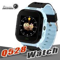 Wholesale children kids cute wrist watch - Cute Sport Q528 Kids LBS Tracker Watch Kids Smart Watch with Flash Light Touchscreen SOS Call Location Finder for kid Child PK GPS Q50