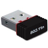 usb wifi adaptörü toptan satış-150 M USB Wifi Kablosuz Adaptörü 150 Mbps IEEE 802.11n g b Mini Antena Adaptörler Yongaseti MT7601 Ağ Kartı 100 adet Ücretsiz DHL