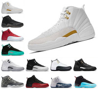 df3347745f1a14 Basketball shoes 12 12s Bordeaux Dark Grey wool white Flu Game UNC Gym red  taxi gamma french blue Suede sneakers Sports size 8-13