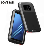 Wholesale love mei powerful - LOVE MEI Metal Case for Samsung Galaxy A8   A8+ 2018 Metal Aluminum Powerful Dropproof Armor Case for Galaxy A8 Plus 2018 Coque