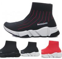 menino tops altos venda por atacado-Moda Bebê Crianças Sapatos Meias Botas Crianças Slip-On Sapatos Casuais Speed Trainer Sneakers Boy Girl High-Top Running Shoes