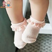 южнокорейские носки оптовых-1 пара/ розница!!Игла кружевные носки южнокорейская новорожденных девочек носки скольжения hTWS0157