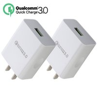 Wholesale wall charger android tablet for sale - Quick charge QC3 US Fast charger Ac home travel wall charger adapter for iphone X samsung s7 edge s8 tablet pc android phone