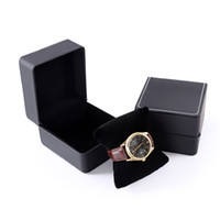 Wholesale leatherette gift boxes for sale - Group buy High grade Black PU Box For Watch Leather Box Good Gift Packing Fashion Watch Box Without Logo