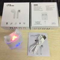 Wholesale Apple Noise - I7S TWS Wireless Bluetooth Earbuds Twins Headphones Headset with Charger Box for Apple Iphone X 8 7 Plus Android Samsung Sony Headphone