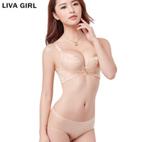 underwear products 2018 - wholesale Brand Women Thickening 6 CM Small Chest Gathered Wire Free Beauty Back Bra Lace Sexy Female Underwear 2018 New Product