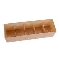 Hot Selling 5 Cells Plastic Organizer Storage Box Tie Bra Socks Drawer  Cosmetic Divider Housekeeping Sundries Container New