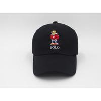 urso vermelho venda por atacado-Moda Hot Upsoar chapéu Red Hat Autêntico polos urso Pai Boné de Beisebol Kanye West TLOP drake cap casquette Mais Novo atacado Barato