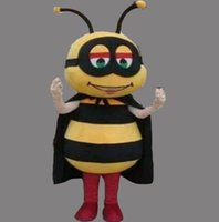 Wholesale Make Bee Costume - New Style Adult Cute BRAND Cartoon New Professional Animal Bee Mascot Costume Fancy Dress Hot Sale Party costume Free Ship