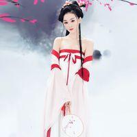 traditioneller kleidermann großhandel-2018 Sommer alten chinesischen Kostüm Männer traditionellen chinesischen Tanz Kleidung für Frauen Langarm hanfu Satin Robe Kleid junge qing