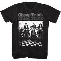 fußbodengruppe großhandel-Günstige Trick Group On Motorräder Checkered Boden Erwachsene T-Shirt Rockmusik T-Shirt Kostenloser Versand Top Tees