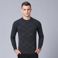 ingrosso maglioni uomo argyle-Magro Pullover di lana MACROSEA 100% lana Pullover modello Argyle Classic Design Business Casual jacquard maglione