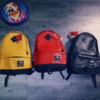 Wholesale leather gym bag duffle - 2018 Supre the north leather backpack school bag fashion outdoor duffle bags 18SS men women Sup backpacks travel outdoor bags