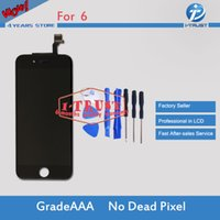 Wholesale iphone full repair - Grade A+++LCD Full Assembly Touch Screen For iPhone 6 6G LCD Good Repair Replacement Parts+ Free Shipping