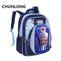 Wholesale Car Bags For Kids - CHUNLONG Russia Style Orthopedic 3D Car Cartoon School bags Backpacks For Boys Waterproof Backpack Child Kids School bag