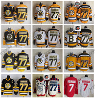 parche negro c al por mayor-Clásico de invierno 2010 Boston Bruins Ray Bourque Hockey Jerseys 75 ° Aniversario # 77 Raymond Bourque Vintage Black Stitched Shirts C Patch