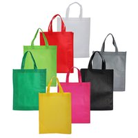 handbag design cloth NZ - 100PCS Eco Reusable Shopping Bags Cloth Fabric Grocery Packing Recyclable Bag Hight Simple Design Lovely Tote Handbag Fashion