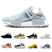 Wholesale ink cheap - Cheap Human Race sneaker Running shoes nerd noble ink core black yellow white Hu trail Men Women trainer Sports Athletic shoes size 36-45