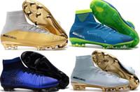 ingrosso le migliori borse in pelle-Commercio all'ingrosso oro bianco CR7 Top qualità per bambini Indoor Scarpe da calcio Mercurial Superfly V FG Tacchetti da calcio C Ronaldo scarpe da calcio a buon mercato