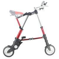 rodas de bicicleta de 12 polegadas venda por atacado-Atacado A-Bike Unisex 8 Polegada Roda Mini Ultra Leve Dobrável Bicicleta Metrô Veículos de Trânsito de Estrada de Bicicleta Esportes Ao Ar Livre