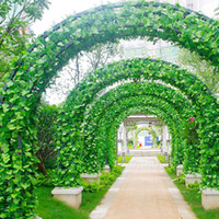 ingrosso piante di edera falsa-12pcs 230 cm edera artificiale foglia ghirlanda piante plastica verde lungo vite falso fogliame fiore decorazioni per la casa decorazione di nozze