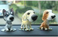 Wholesale dog toy car decoration resale online - Car Ornaments Cute Shaking Head Resin Dog Puppy Figurines Automobile Interior Dashboard Toys Home Furnishing Decoration Gifts
