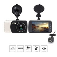 Wholesale 4 quot Dual Lens P FHD MP DVR Dash Camera Car DVR Video Recorder Camcorder Support Motion Detection G sensor Loop Video