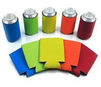 Wholesale Cool Beer Gifts - Beer Can Sleeves Neoprene Drink Cooler Sleeves Wrap Holders Can Insulator Nigth Party Favors Gifts