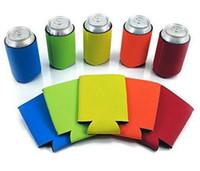 Wholesale Neoprene Beer - Beer Can Sleeves Neoprene Drink Cooler Sleeves Wrap Holders Can Insulator Nigth Party Favors Gifts