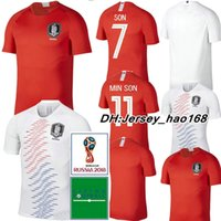 Wholesale h shirts - 2018 World Cup H M SON jersey soccer jerseys home away SON S Y KI national team football shirt 2019 TOP THAI QUALITY