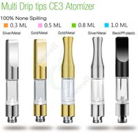 Wholesale e cigarette tank cartomizer - CE3 BUD Touch 510 Cartridges Metal plastic drip tips WAX Thick oil Vaporizer Atomizers O Pen vapor Mini cartomizer e cigarette vape Tank DHL
