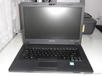 china inglés dvd al por mayor-Computadoras portátiles Lenovo E49L de 14.1 pulgadas con Windows 7 Versión en inglés Procesador portátil de doble núcleo Celeron L1005 con reloj en portátil con computadora portátil de 1.9GHz