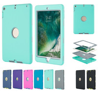 Wholesale drop resistance silicon ipad cover resale online - Defender shockproof Robot Case military Extreme Heavy Duty silicone cover for ipad pro air mini