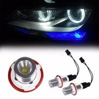 bmw halo toptan satış-Yeni 2 adet LED Melek Gözler 7 W Süper Parlak Yedek Led Halo Yüzük Marker Ampul BMW E39 E53 E60 E61 Için Fit
