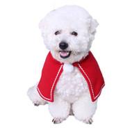 kırmızı kedi kostümleri toptan satış-Noel Için Pet Köpek Kedi Mini Etek Pelerin Kırmızı Noel Köpekler Kediler Kostümleri Evcil Kediler Noel Malzemeleri Için Küçük Pelerin