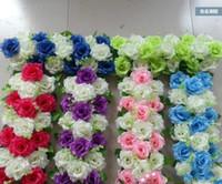 ingrosso i fiori artificiali vendono il trasporto libero-Il prezzo all'ingrosso 2018 delle rose artificiali del fiore di fila di fila di fila della fila di fila del fiore degli angoli del fiore dell'arco del fiore di nozze di prezzi all'ingrosso libera il trasporto