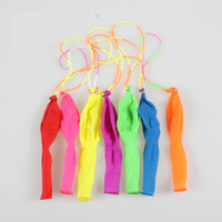 Wholesale High Quality Latex Balloons - High Quality Rubber String Polychromatic Optional Latex Hand Beat Round Pearlescent Balloon Children Toy Balloons Interactive Game 6jc W